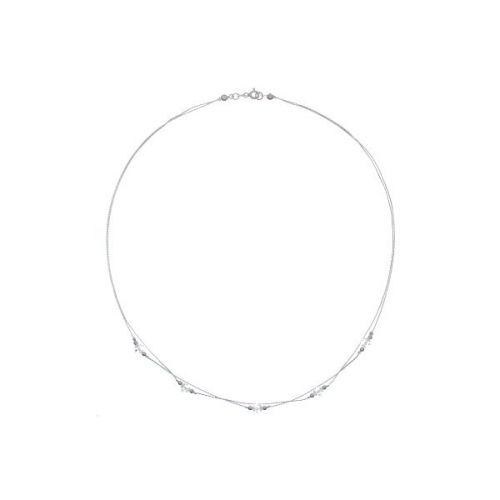 Colier din argint cu cristale Swarovski albe