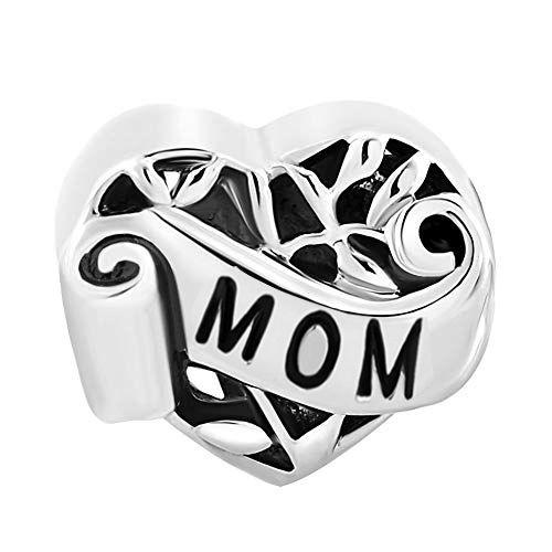 Talisman din argint inima MOM