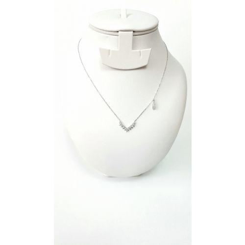 Colier din argint model abstract si detaliu tip lacrima