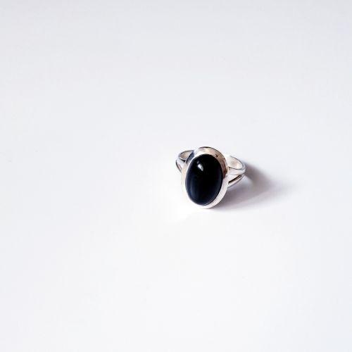 Inel din argintcu onix negru