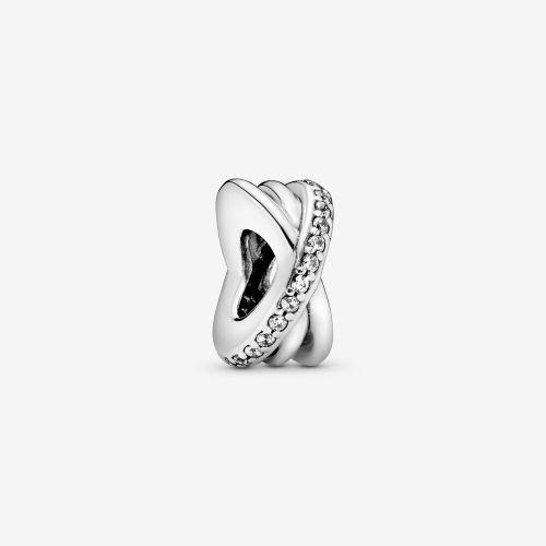 Talisman din argint spirala cu banda din cristale de zircon