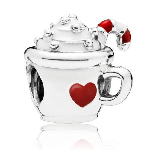 Talisman din argint cana cu ciocolata calda