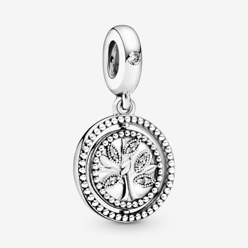 Talisman din argint copacul vietii stilizat cu cristale