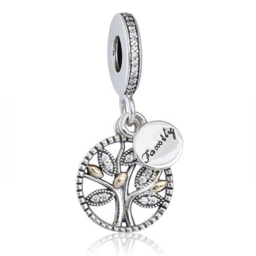 Talisman din argint copacul vietii Family