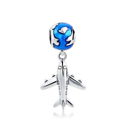 Charm avion albastru