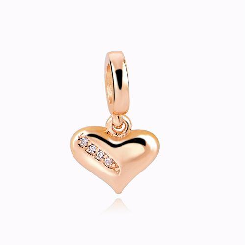 Charm inima placat cu aur
