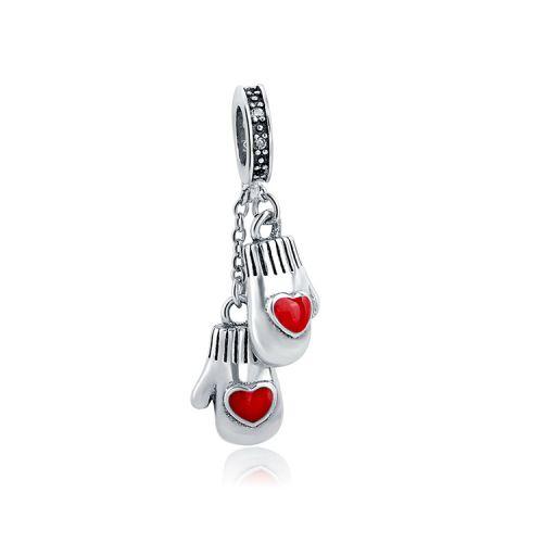 Talisman din argint manusi inima