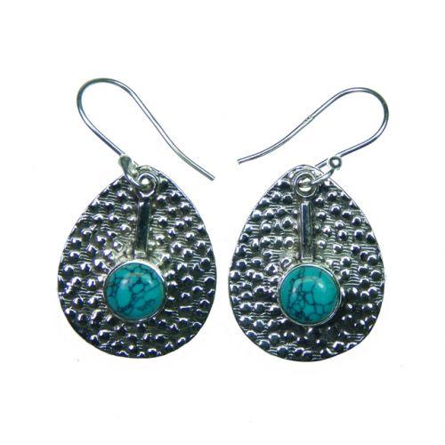 Cercei din argint cu turquoise