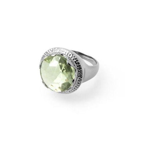 Inel din argint cu ametist verde