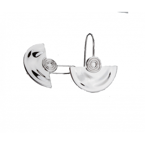 Cercei din argint semicerc barcuta