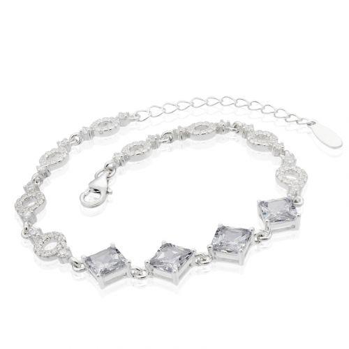 Bratara din argint cu cristale mari cubic zirconia