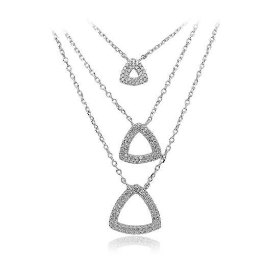 Colier din argint in trei straturi