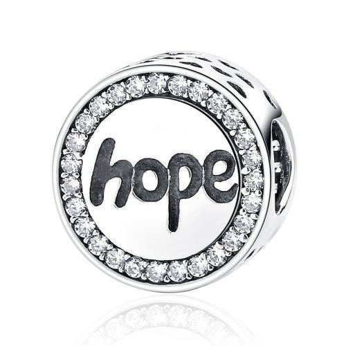 Talisman din argint Hope cu zircon