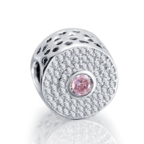 Talisman din argintbatut in cristale cubic zircon