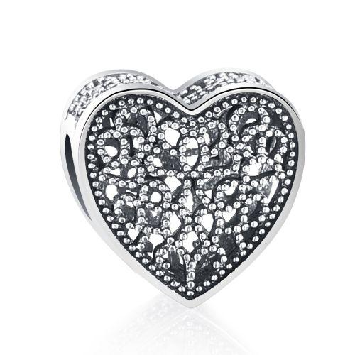 Talisman din argint inima mistica