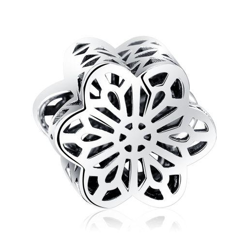 Talisman din argint floare geometrica