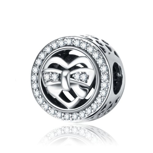 Talisman din argintribbon heart