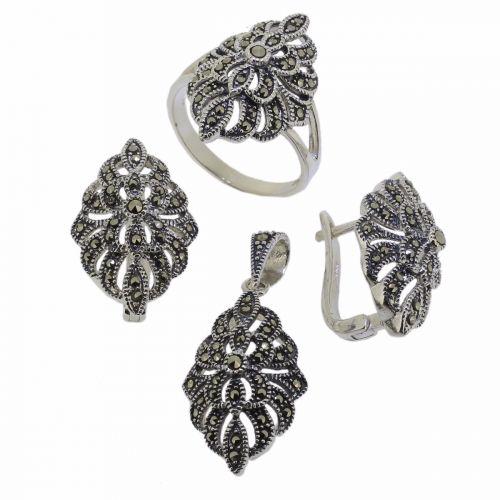Set din argint 925 cu marcasite